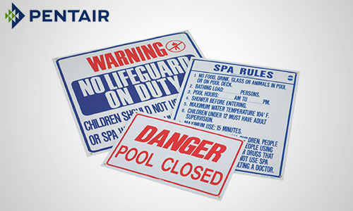 9. Pool & Spa Signs