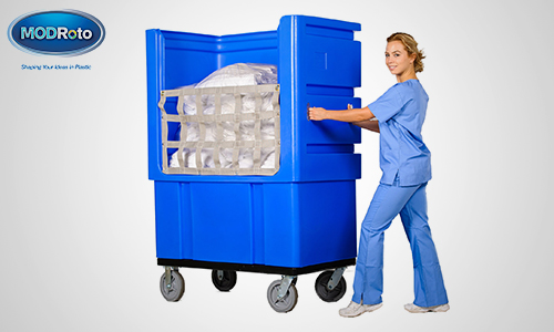6. 72 Ergonomic Laundry Cart